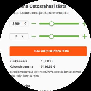 Ostosraha.fi lainahakemus