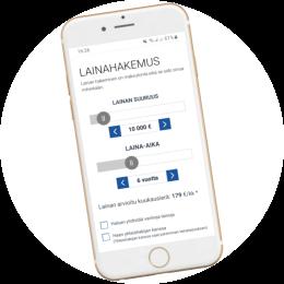 Lainaa.com lainahakemus mobiilissa