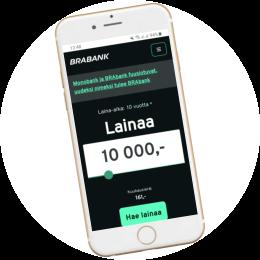 Brabank.fi kotisivut mobiilissa