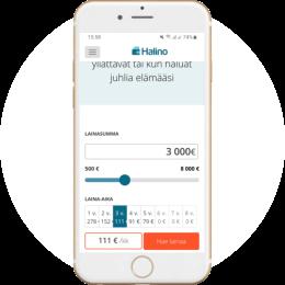 Halino.fi kotisivut mobiilissa