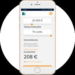 Nordax.fi kotisivut mobiilissa