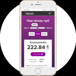 Risicum.fi kotisivut mobiilissa